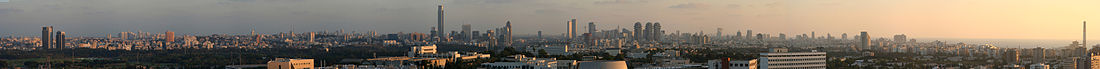 Tel Aviv and Ramat Gan, looking from Tel Aviv University.jpg