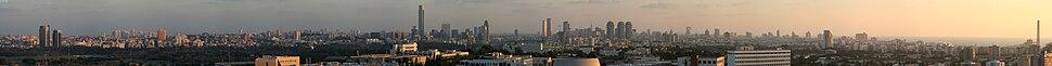 תל אביב ורמת-גן במבט מגבעת האוניברסיטה