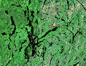 Lake Temagami - The lake with its many branches, bays and islands
