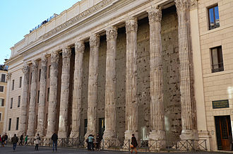 Rome chamber of commerce in the ancient Temple of Hadrian Temple of Hadrian.jpg