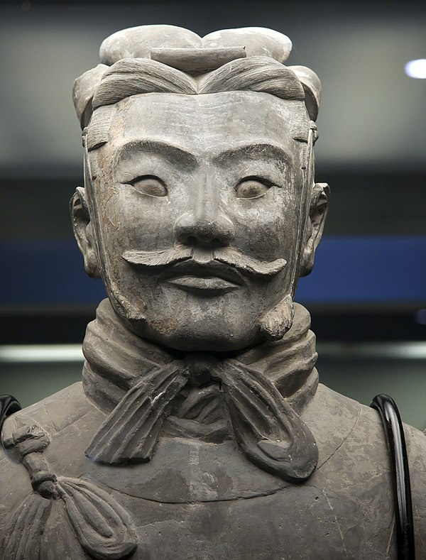 High ranking terracotta officer in Xi'an, China.