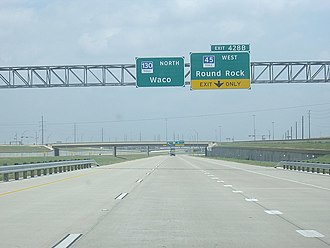 Texas State Highway 130 - SH 130 northbound in Pflugerville, May 2008