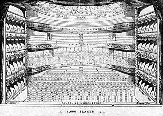 Théâtre des Folies-Dramatiques - 1875 seating chart