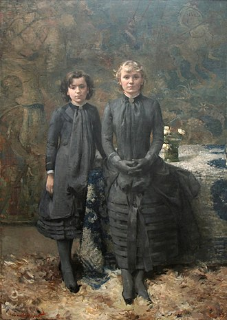 Théo van Rysselberghe - Jeanne and Marguerite Schlobach