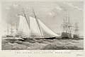 The Alarm R.Y.S. Joseph Weld, Esqr. Published in Hunt's Yachting Magazine August, 1853 RMG PU6513.jpg