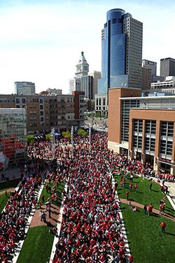 The Banks on Opening Day for The Cincinnati Reds April 2012.jpg