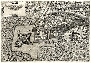 Siege of Szigetvár - Artistic impression of the battle of Szigetvár