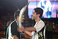 The Beijing Olympic Gold Medalist, Shri Abhinav Bindra at the baton relay at the opening ceremony of 3rd Commonwealth Youth Games-2008, in Pune on October 12, 2008.jpg