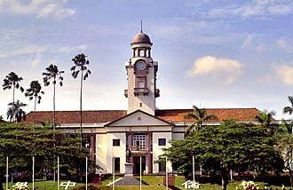 The Chinese High School (Singapore) - Image: The Chinese High School Clock Tower Building 1990s