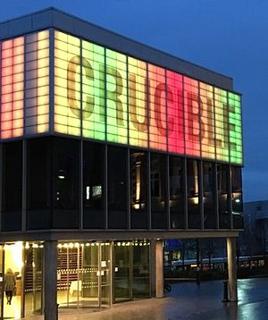 Crucible Theatre - The Crucible Theatre at night