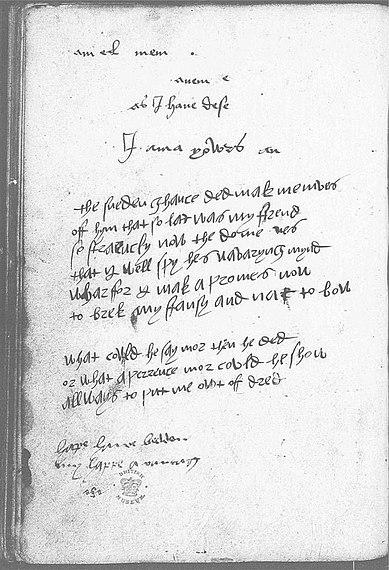 Devonshire Manuscript - I am yowrs An - 67b - wikibooks