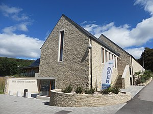 The Etches Collection - View of the building housing The Etches Collection from the main road in Kimmeridge