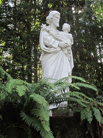 The Grotto - Saint Joseph sculpture at the Grotto.