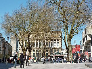 The Hayes street in Cardiff, Wales