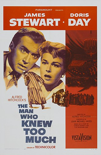 The Man Who Knew Too Much (1956 film) - Theatrical release poster