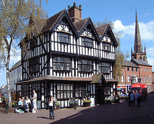 Hereford - The Old House, High Town. This timber-framed Jacobean building, built in 1621, is now a museum.