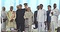 The President, Shri Pranab Mukherjee at the inaugural function of the centenary celebrations of Osmania University, in Hyderabad.jpg