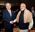 The Prime Minister, Shri Narendra Modi and the Prime Minister of Israel, Mr. Benjamin Netanyahu in 2nd meeting of India Israel CEOs forum, in New Delhi on January 15, 2018.jpg