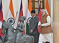 The Prime Minister, Shri Narendra Modi with the Prime Minister of Nepal, Mr. Pushpa Kamal Dahal, at Hyderabad House, in New Delhi on September 16, 2016.jpg