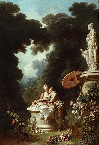 Confession - Confession of Love by Jean-Honoré Fragonard depicts a subject confessing feelings that had been concealed up to that point.