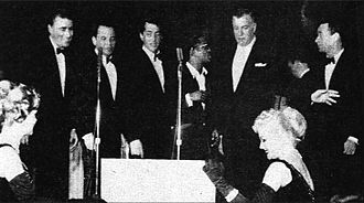 Sands Hotel and Casino - The Rat Pack with Jack Entratter in 1960