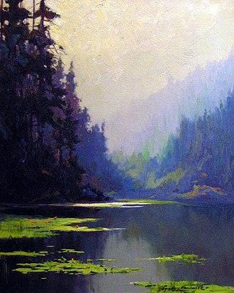 Sydney Laurence - The Silent Pool, 1920-1930. Oil on canvas, 52 cm x 41 cm.