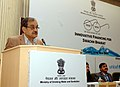 The Union Minister for Rural Development, Panchayati Raj, Drinking Water and Sanitation, Shri Chaudhary Birender Singh delivering the inaugural address at the Conference on Innovative Financing in Sanitation Sector.jpg
