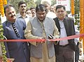 The Union Minister for Tribal Affairs, Shri Jual Oram inaugurating the 11th National Tribal Craft Mela 'Aadishilp', in New Delhi on November 02, 2015. The Secretary, Ministry of Tribal Affairs, Shri Arun Jha is also seen.jpg