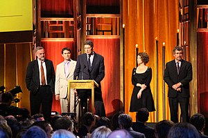 Frontline (U.S. TV series) - Image: The crew of FRONTLINE United States of Secrets at the 74th Annual Peabody Awards
