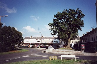 Langley Green, West Sussex - The shopping parade in 2001