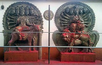 Kundalini - Statues of Shiva and Shakti at Kamakhya temple, one of the oldest Shakti Peethas, important shrines in Shaktism, the goddess-focused Hindu tradition