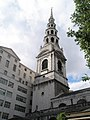 The unmistakable spire of St Bride's, Fleet Street - geograph.org.uk - 922794.jpg