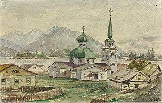 Rear View of Greek Church, Sitka, 1888