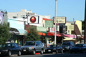 3rd Street, Los Angeles - 3rd Street in Los Angeles between La Cienega Boulevard and Fairfax Avenue is known for its shops and eateries