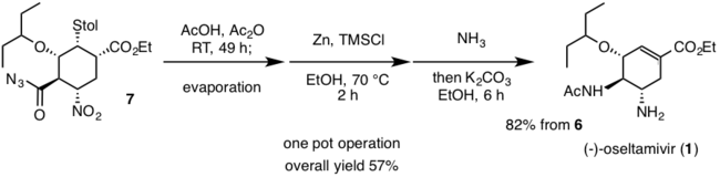 Third one-pot operation Hayashi 2009 Synthesis.png