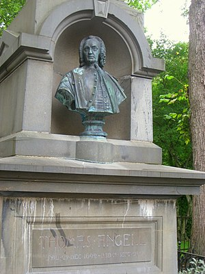 Thomas Angell (born 1692) - Bust of Thomas Angell.
