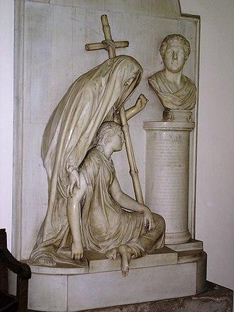 Thomas Bulkeley, 7th Viscount Bulkeley - Bulkeley's memorial in St Mary's, Beaumaris