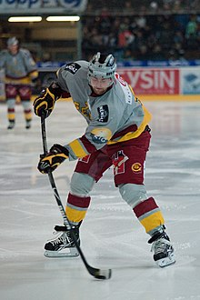 Thomas Déruns - Fribourg-Gottéron vs. Genève-Servette, 6th March 2010.jpg
