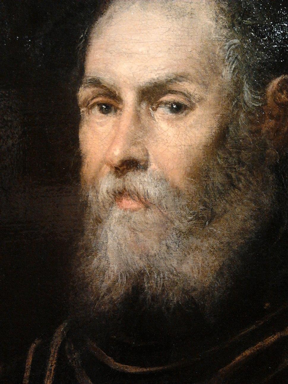 Tintoretto Venetian admiral (detail)