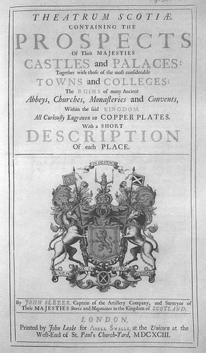 John Slezer - Title page of the Theatrum Scotiae, 1693