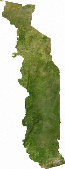 Togo-Geografia-Togo sat