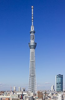 Tokyo Skytree Broadcasting and observation tower in Tokyo, Japan