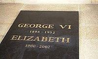 Tomb of King George VI and Queen Elizabeth at Saint George Chapel.jpg