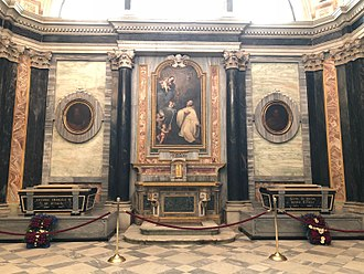 Sanctuary of Vicoforte - Tomb of Victor Emmanuel III of Italy and Elena of Montenegro.