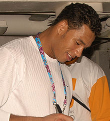 Tony Stewart at Pearl Harbor 2-12-05 050212-N-4995T-080.jpg
