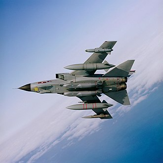 Storm Shadow - A RAF Tornado GR4 carrying two Storm Shadow missiles under its fuselage