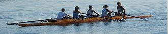 Racing shell - Image: Toronto female rowing team