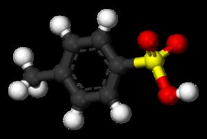 P-Toluenesulfonic acid - Image: Tosic acid 3D balls