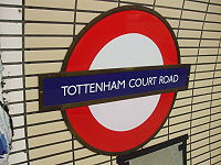 Tottenham Court Road stn Northern roundel.JPG