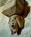Tourtoirac - Abbatiale - Transept - Appui de colonnette.JPG